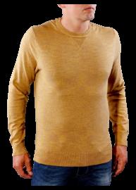 Tommy Hilfiger Premium Cotton 08578A1653 381 mustársárga kötött pulóver