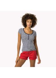 Tommy Hilfiger DW0DW02015 904 Navy csíkos női póló
