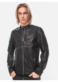 Tom Tailor 1004310 00 12 29999 Férfi fekete bőrhatású dzseki