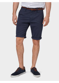 Tom Tailor 1007868 XX 10 18195 Férfi Josh regular-slim navy bermuda övvel