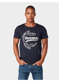 Tom Tailor Denim 1008171 XX 12 10668 Férfi sötétkék regular fit póló