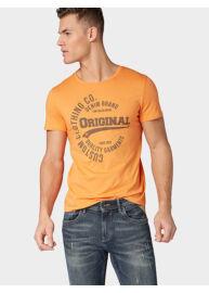 Tom Tailor Denim 1008171 XX 12 11297 Férfi narancssárga regular fit póló