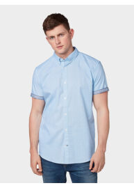Tom Tailor 1008193 XX 10 15844 Férfi stretch fit kék-fekete mintás ing