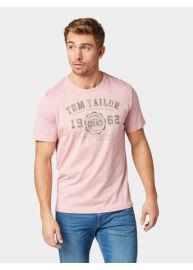 Tom Tailor 1008637 XX 10 11055 Férfi regular fit rózsaszín póló