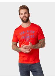 Tom Tailor 1008637 XX 10 13189 Férfi regular fit piros póló