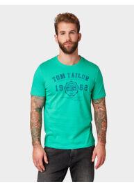 Tom Tailor 1008637 XX 10 15830 Férfi regular fit zöld póló