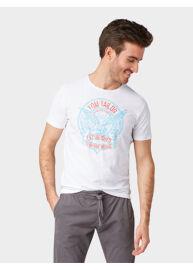 Tom Tailor 1008643 09 10 20000 Férfi fehér regular fit póló