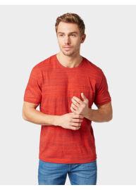 Tom Tailor 1009913 XX 10 16976 Férfi regular fit piros melange póló