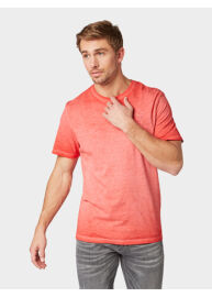 Tom Tailor 1009914 XX 10 13189 Férfi regular fit piros póló