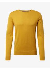 Tom Tailor 1012819 XX 10 19154 Férfi sárga kerek nyakú pulóver