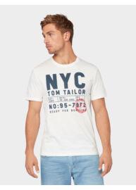 Tom Tailor 1012832 XX 10 10332 Férfi regular fit off white póló