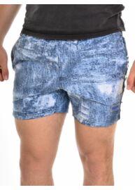 Devergo 1D711054SP6005 45 Férfi kék batikolt feliratos úszónadrág