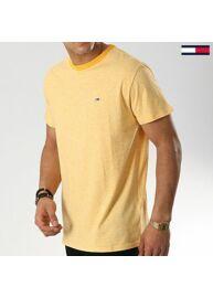 Tommy Hilfiger DM0DM06064 704 Férfi regular fit sárga melange póló