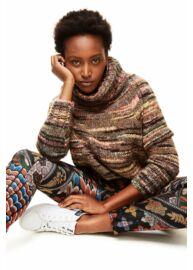 Desigual 17WWPN20 2000 Fekete alapon színes mintákkal ellátott női farmernadrág