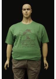Kitaro 121183 511 nagyméretű pálmafás zöld férfi póló Méret: 5XL/64
