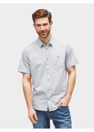 Tom Tailor Regular fit 2055289 00 10 8005 férfi kék csíkos, mintás rövid ujjú ing Méret: XL
