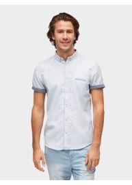 Tom Tailor 2055502 00 10 2000 Férfi slim fit kék mintás rövid ujjú ing