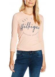Tommy Hilfiger DW0DW0666 648 Női mályva színű sztreccses póló Méret: L
