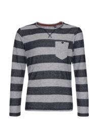 Tom Tailor 1035979 00 30 6012 Csíkos szürke kék fiú póló
