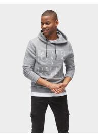 Tom Tailor Denim 2555117 00 12 2803 világos szürke-melanzs férfi kapucnis pulóver