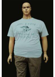 Kitaro 131185 258 capri blue nagyméretű férfi póló Méret: 5XL/64