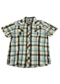 Twinlife msh 111615 Kék kockás férfi ing