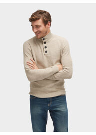 Tom Tailor 3022847 00 10 8124 Bézs színű kötött pulóver