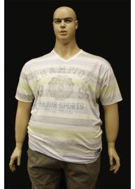 Kitaro 151107 119 Kék graphite nagyméretű fehér férfi póló Méret: 5XL/64