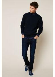 Tommy Hilfiger MW0MW03231 403 Férfi kék kötött pulóver