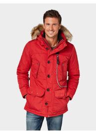 Tom Tailor 3555325 00 10 4785 Férfi piros télikabát