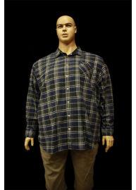 Kitaro 115760 10 Kék nagyméretű férfi ing Méret: 5XL/64