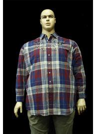 Kitaro 125734 431 kockás nagyméretű férfi ing Méret: 4XL/62