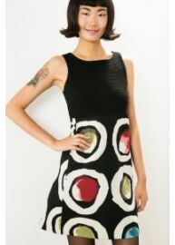 Desigual 57V2LC4 2000 Fekete ujjatlan női ruha