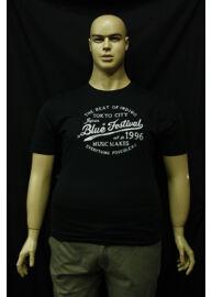 Kitaro 161050 100 fekete kerek nyakú férfi nagy méretű póló