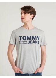 Tommy Hilfiger Denim DM0DM02192 038 Szürke férfi kerek nyakú póló