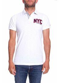 Tommy Hilfiger Denim DM0DM01814 100 Férfi fehér rövid ujjú galléros póló