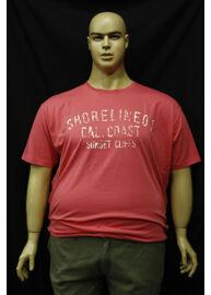 Kitaro 121188 428 rózsaszín férfi extra méretű póló