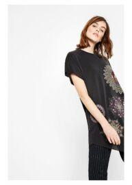 Desigual 72T2EB0 2017 Fekete színű mintás női ruha