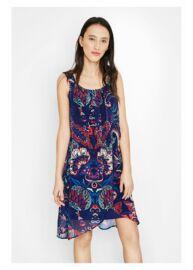 Desigual 72V2EN5 5001 Kék színű mintás női ruha