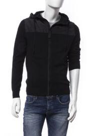 Devergo 1D626003KA0101 16 Férfi fekete kötött kapucnis pulóver