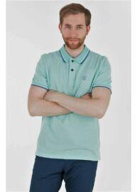 Tom Tailor 1555026 00 7653 zöld férfi galléros póló
