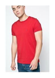Tommy Hilfiger Denim MW0MW02783 611 Piros férfi kerek nyakú póló