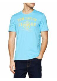 Tom Tailor 1008637 09 10 16028 Férfi regular fit kék póló