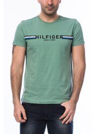 Tommy Hilfiger Organic Cotton MW0MW00787 388 Zöld férfi kereknyakú póló Méret: M