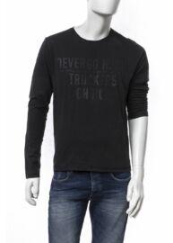 Devergo1D624029LS0123 9 Feketefeliratos férfi pulóver