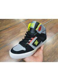 DC 303499B Youth's Spartan High Bőr szürke magasszárú cipő