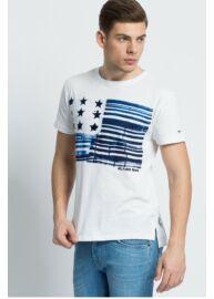 Tommy Hilfiger Denim DM0DM02022 105 férfi kerek nyakú fehér póló