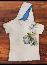 Antony Morato MMKS00604 1004 Férfi fehér mintás csuklyás póló