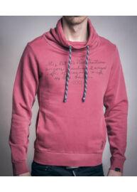 No Excess 70 130805 142 Tégla színű sálgalléros férfi pulóver Méret: L