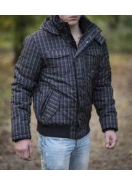 Twinlife mjt 151127 fekete kockás férfi dzseki